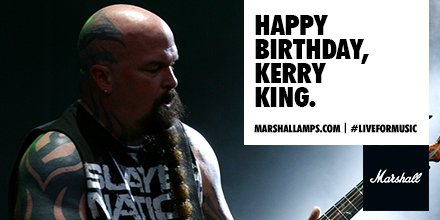 Happy Birthday to our good friend, thrash guitar legend and Marshall artist, Kerry King