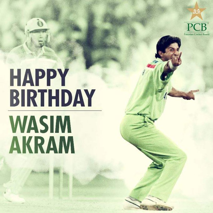 Happy Birthday to one of the greatest fast bowlers of all time Sir Wasim Akram