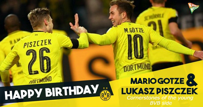 Happy birthday to the Borussia Dortmund pair of Mario Gotze and Lukasz Piszczek.