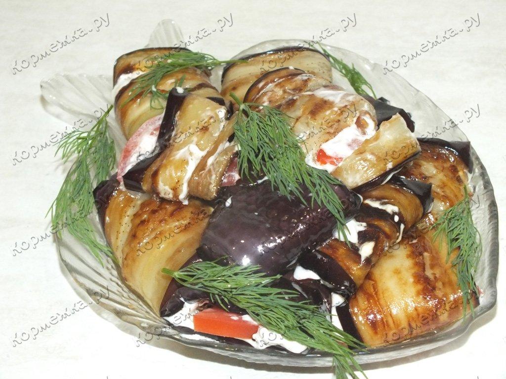 Рулетики из баклажанов с овощной начинкой рецепты 54