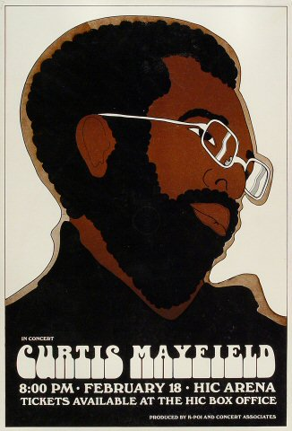 Happy birthday Curtis Mayfield. The late artist would have been 75 today.