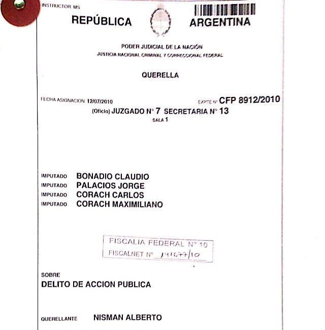 ESTA es la denuncia en la que Nisman acusa a Bonadio por amenazas y expresa que teme por si mismo y por sus hijas... https://t.co/JryTt3TPVM