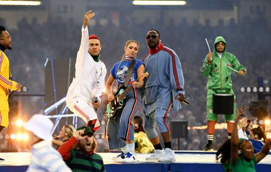 'Worse than Man United without Fergie' - Black Eyed Peas Champions League performance slammed by fans