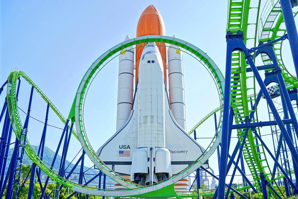 今日は「COS-PATIO in SPACE WORLD」で 残響のテロル併せを撮ってきました!あと スペースシャトルと