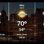 Partly sunny Sunday, showers and storms