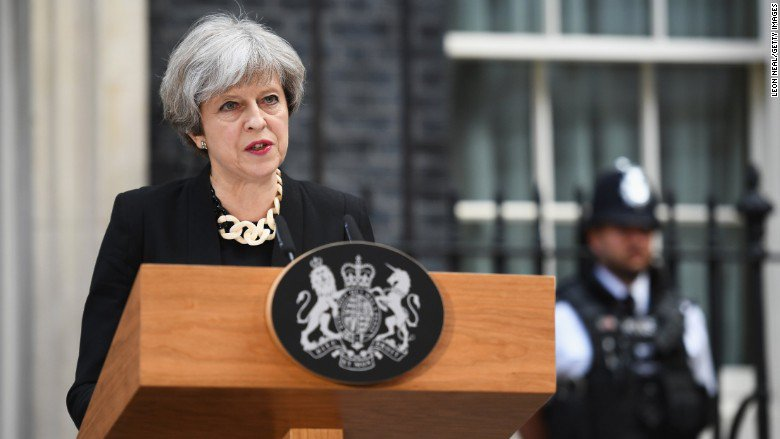 British Prime Minister Theresa May says the internet must be regulated to prevent terrorism