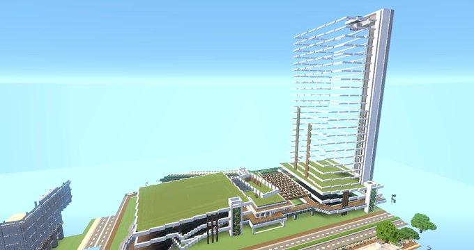 まだ完成にはほど遠いが建物の形は見えてきたこういう形になるよただ、高層ビルは肉付けしてかないと全然形見えてこないけど。