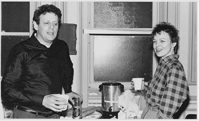 Art is about paying attention. Happy birthday Laurie Anderson With Philip Glass Photo: Lynn Goldsmith