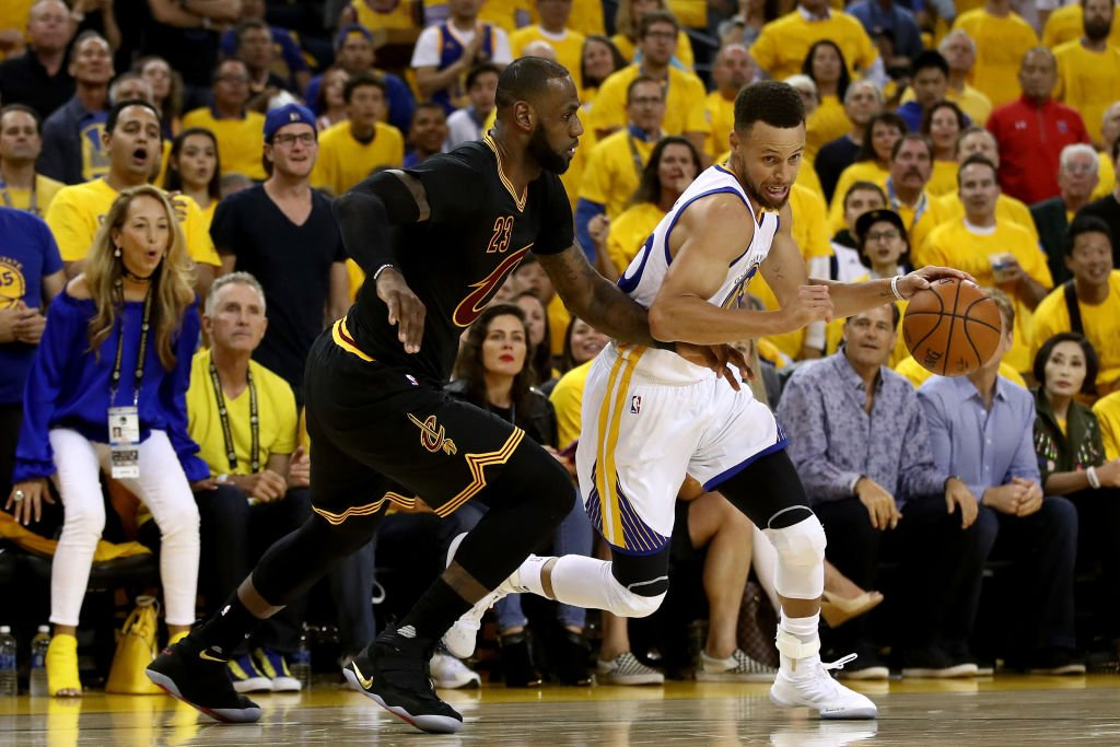 Watch Steph Curry punk LeBron James as the Warriors take a 2-0 lead in NBA Finals