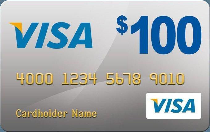 Free $100 dollar Visa Gift Card