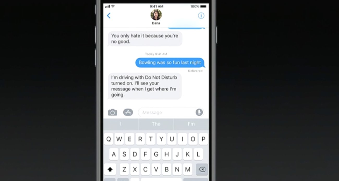 """iOS 11 will have a """"Do Not Disturb while Driving"""" mode. It can detect when you're driving and hide incoming alerts #WWDC2017 https://t.co/ePNlRPphyx"""