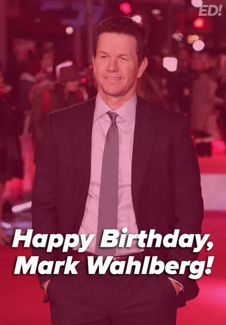 Happy birthday to Mark Wahlberg who turns 46 years old today!