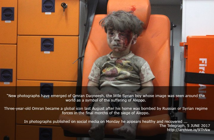 Remember Omran Daqneesh from Aleppo? An update on him, he's okay and still living in Aleppo. https://t.co/bLdeviWQVW