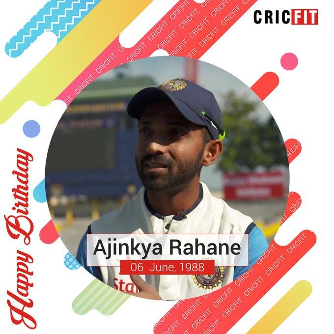 Cricfit Wishes Ajinkya Rahane a Very Happy Birthday!