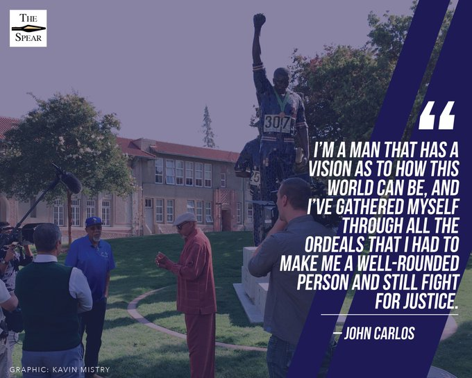 Happy 72nd birthday to one of the most influential Spartans in history,  John Carlos!