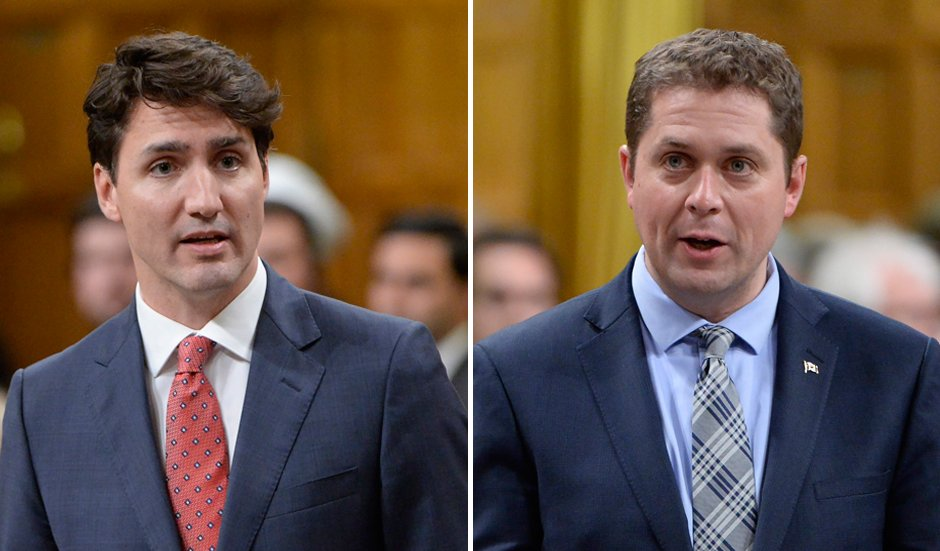 Scheer and Trudeau touch on terrorism, infrastructure funding in first Commons clash