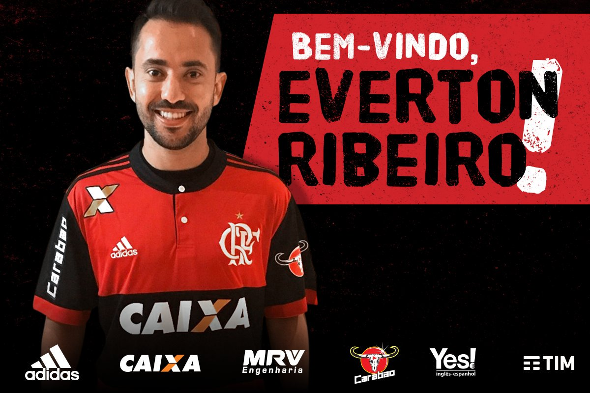 Vestiu o Manto e é nosso! Everton Ribeiro é reforço rubro-negro! Comemora, Nação! #CoéEvertonRibeiro