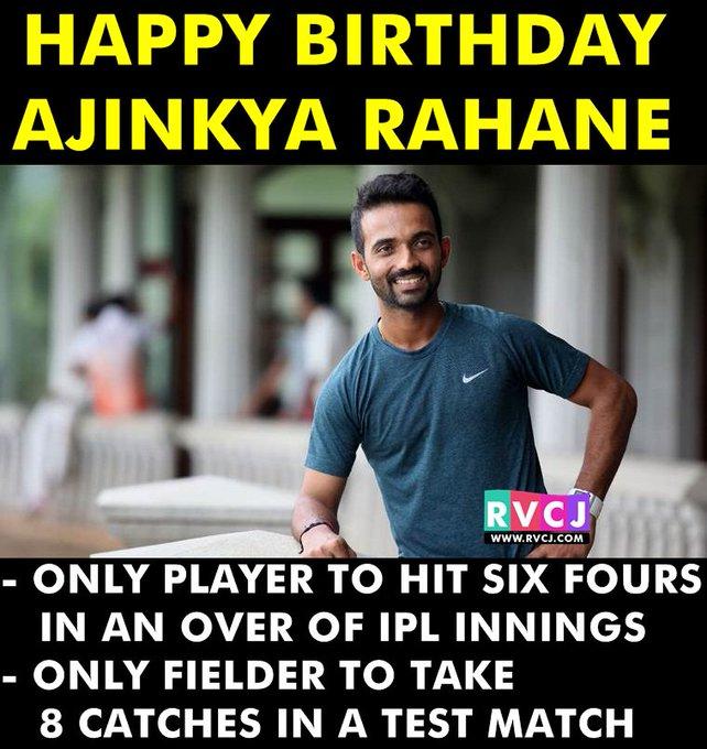 Happy Birthday Ajinkya Rahane!