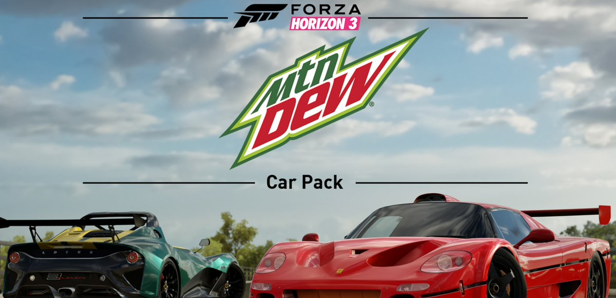 Rev your engines with the Forza Horizon 3 Mountain Dew Car Pack