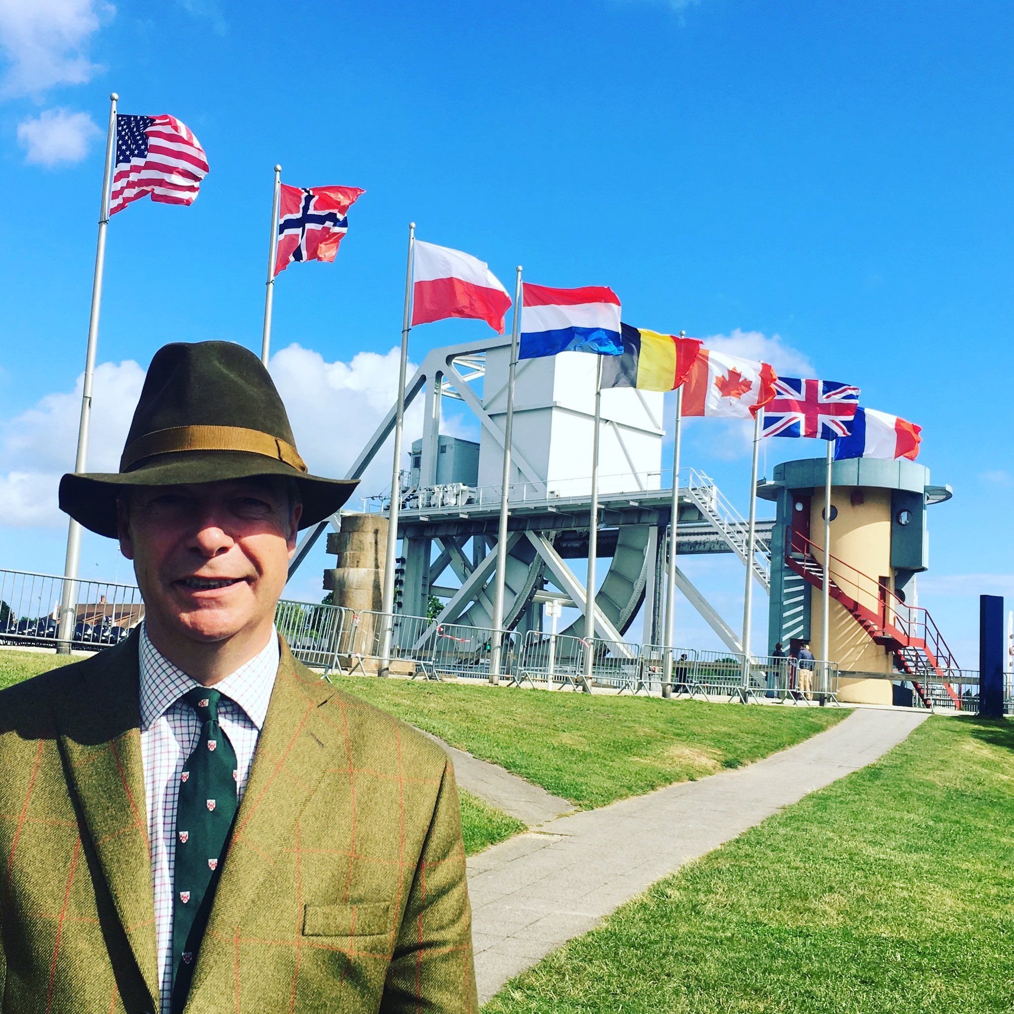 At Pegasus Bridge for the 73rd anniversary of the D-Day landings, remembering the bravery shown on that day. https://t.co/Lyi86E4TGZ