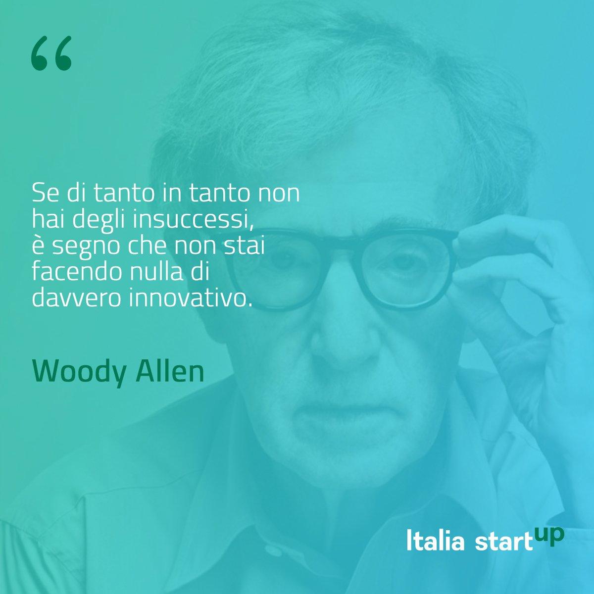 «Se di tanto in tanto non hai degli insuccessi, è segno che non stai facendo nulla di davvero innovativo». Woody Allen #ISpirationalQuotes https://t.co/4k4MLJJ9cu