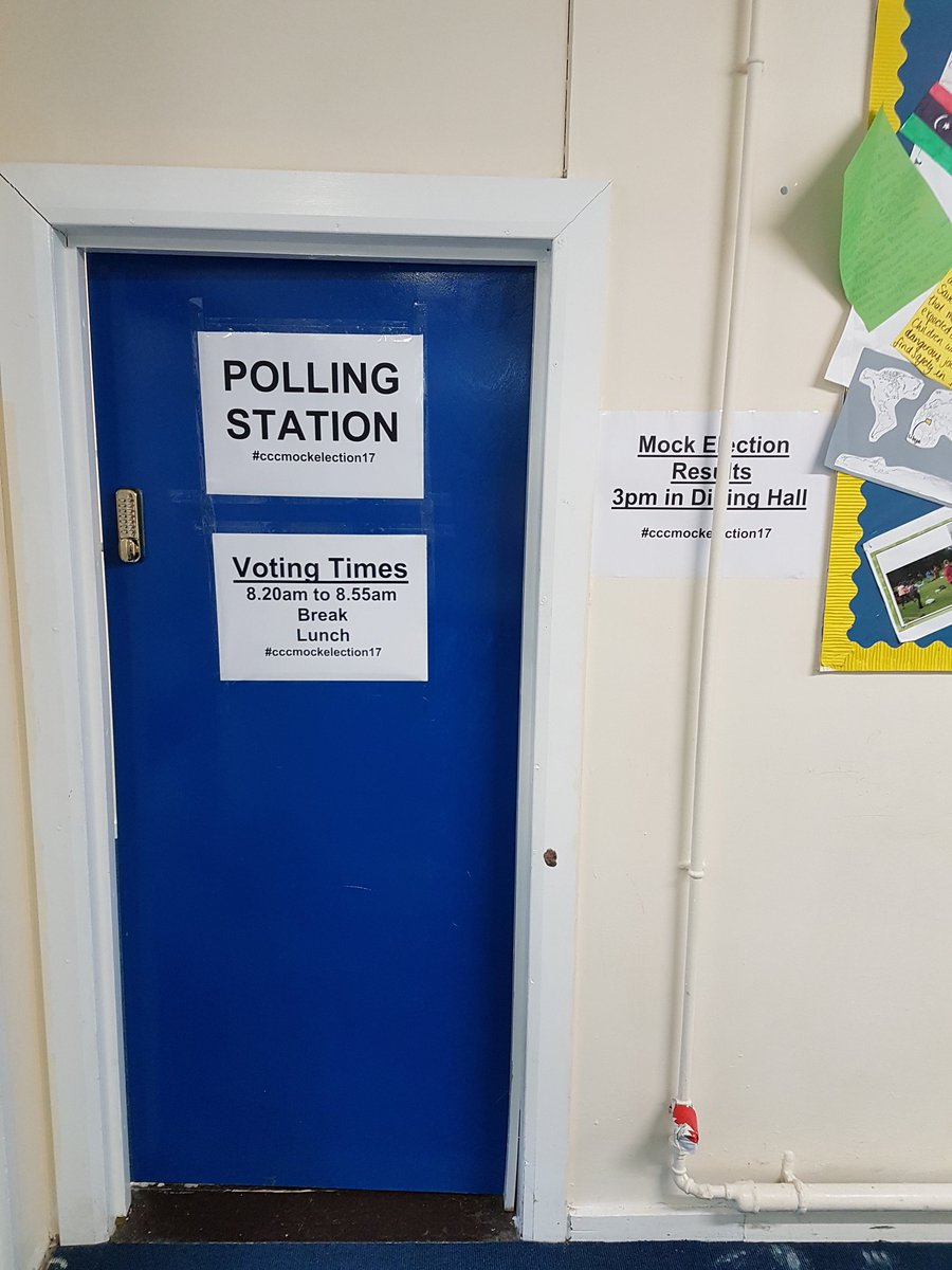 test Twitter Media - RT @mrslatermaths: Polling Station is ready. Are you? #cccmockelection17 @CartertonCC https://t.co/Tso5Ru1BiH