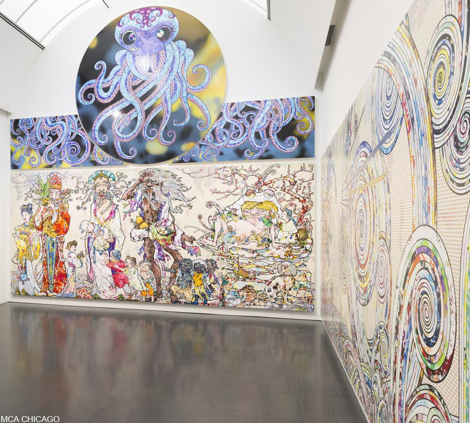村上隆氏の回顧展、シカゴで始まる【#写真】 村上隆氏の回顧展「タコが己の足を食う」が6日、シカゴ現代美術館(CMA)で始まった。#アート #美術館