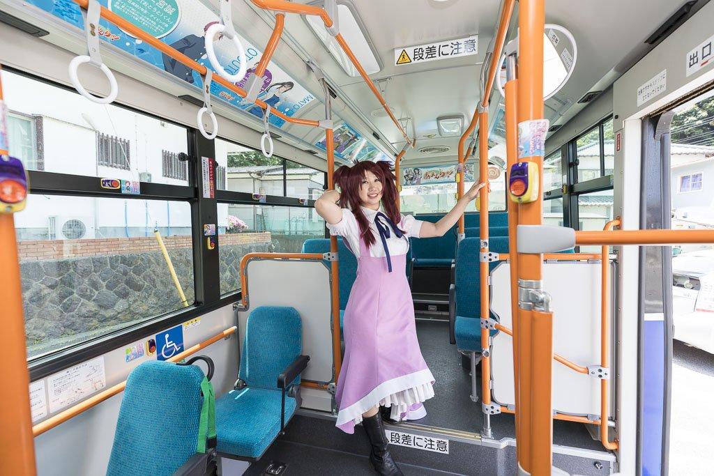 おっはよーございます!!伊豆めっちゃ熱かった!!姉ちゃんコスで撮れると思わなかった東海バスあまんちゅ!号ー!!北海道ぜん
