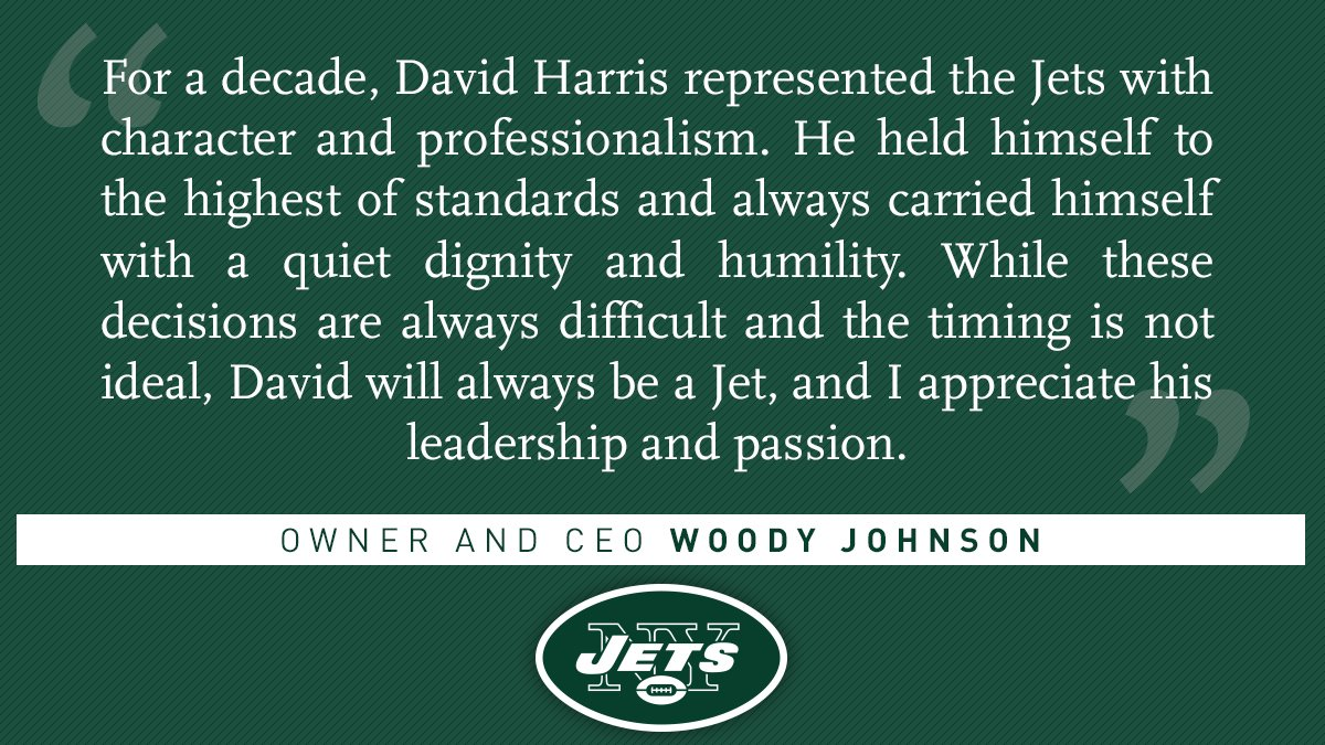 A statement from owner and CEO Woody Johnson[📰