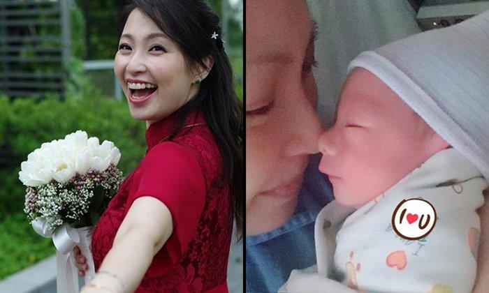 Local DJ Chua Leelian shows off newborn baby boy on social media