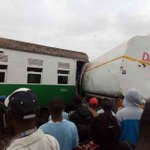 One injured as commuter train collides with trailer near Donholm
