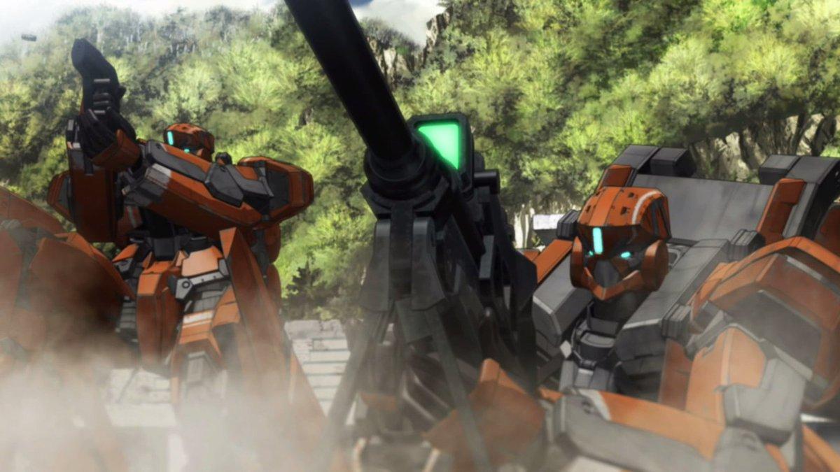 アルドノア・ゼロに登場する主人公メカ、KG-6スレイプニール。旧式の訓練機で、主人公の学校には3機配備されていました。_