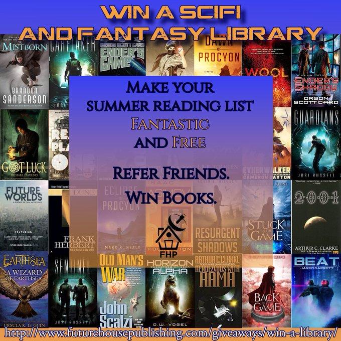 Refer Friends. Earn SciFi/Fantasy Books.