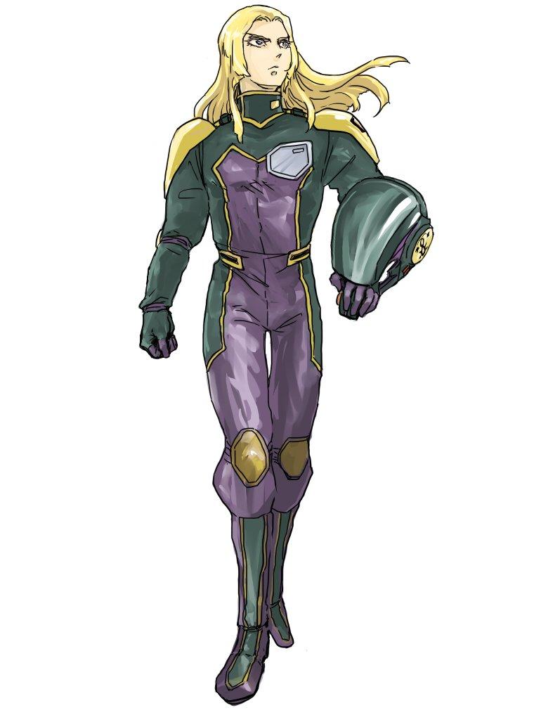 機甲戦記ドラグナー:マイヨ衣装マイヨさんのパイロットスーツ、紫と金色で違和感無さげですね。流石推し&推し