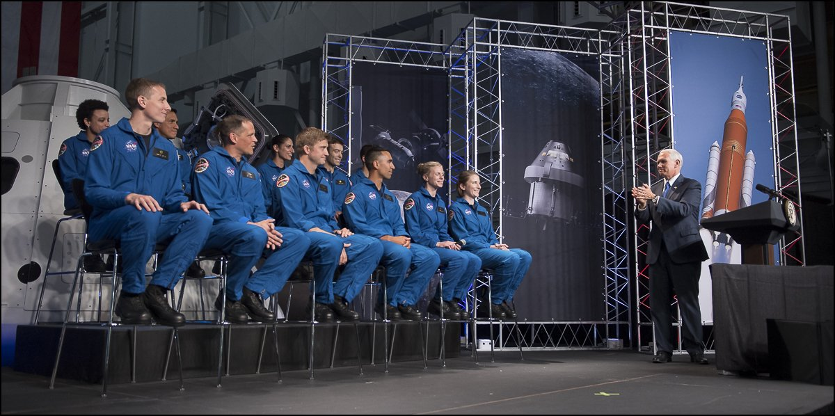 .@VP Mike Pence and @NASA introduce America's #NewAstronauts! Photos are being posted: https://t.co/IQGDAS5pmf https://t.co/87INmyW6WB
