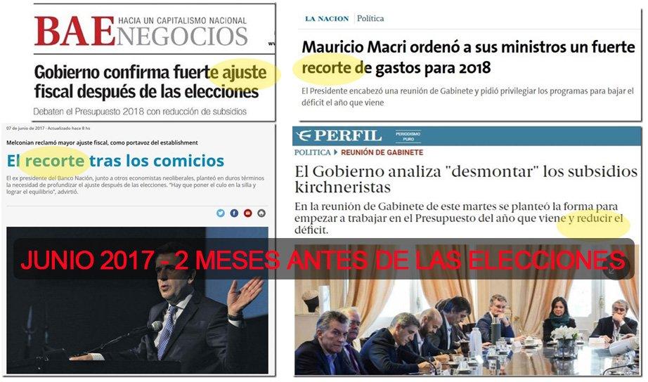 Macri, sus ministros y sus economistas.  Todos ya anuncian el ajuste que piensan hacer después de las elecciones. https://t.co/1uLhxX4Vh9