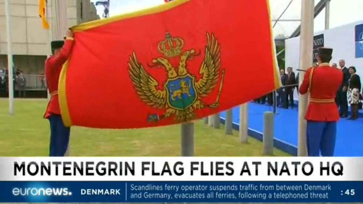 NATO flies Montenegro flag following accession. Read more: