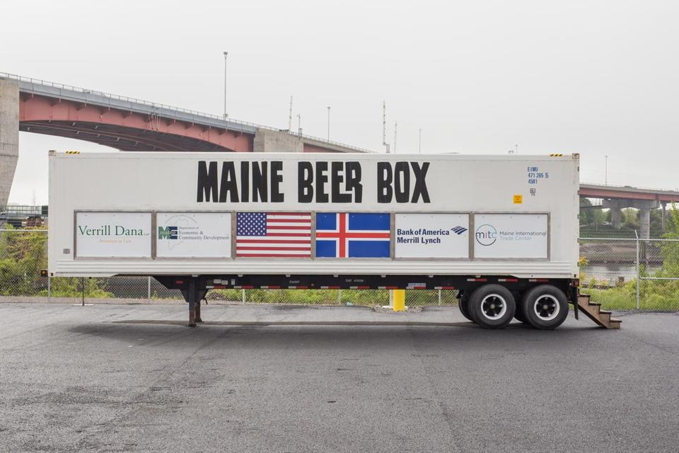 Maine sends a shipment of beer — in a truck — to Iceland