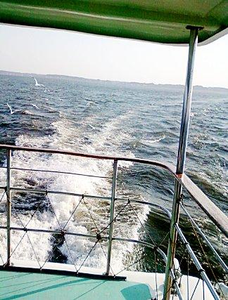 霞ヶ浦( = Lake Kasumigaura)を遊覧船が駆け巡る体験 ... ちなみに京成電鉄(遊覧船旧経営母体)の元