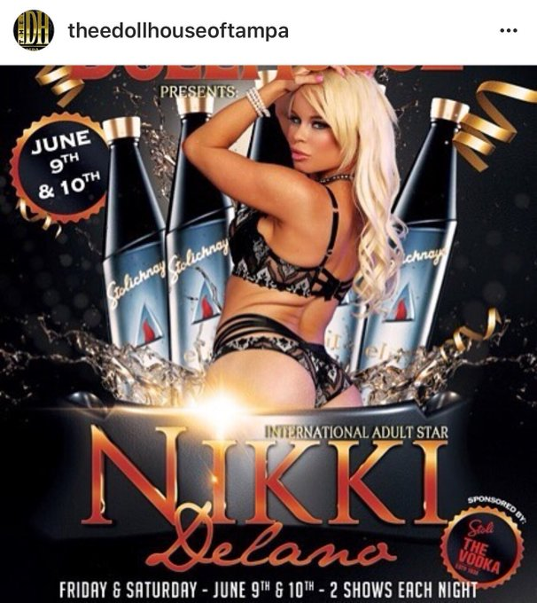 Meet me live this weekend in Tampa Florida at @Thee_Dollhouse 2 nights June 9 & 10 https://t.co/HWhG