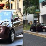 Car crashes into void deck of Block 755 Pasir Ris St 71