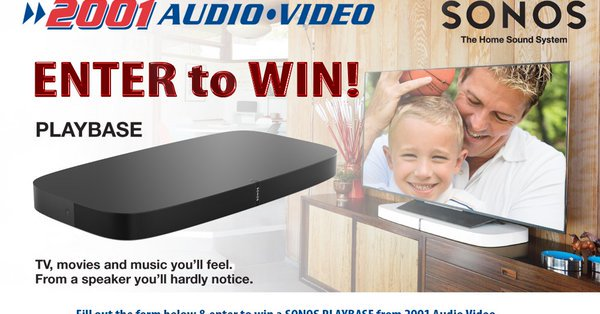 Enter to Win a Sonos Playbase from 2001 Audio Video