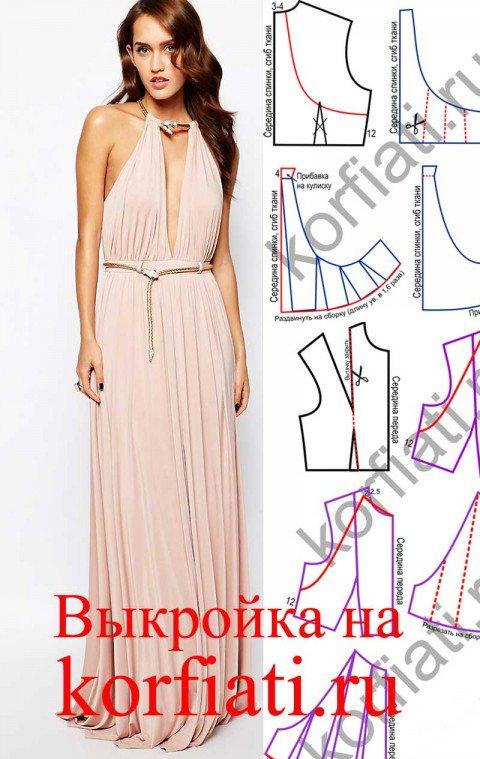Платья длинные выкройки