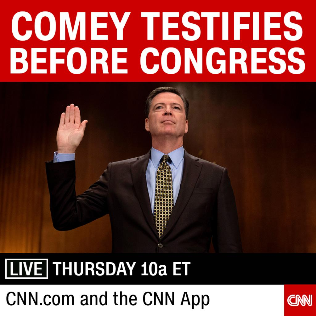 Here's what you should watch for when fired FBI Director James Comey testifies today