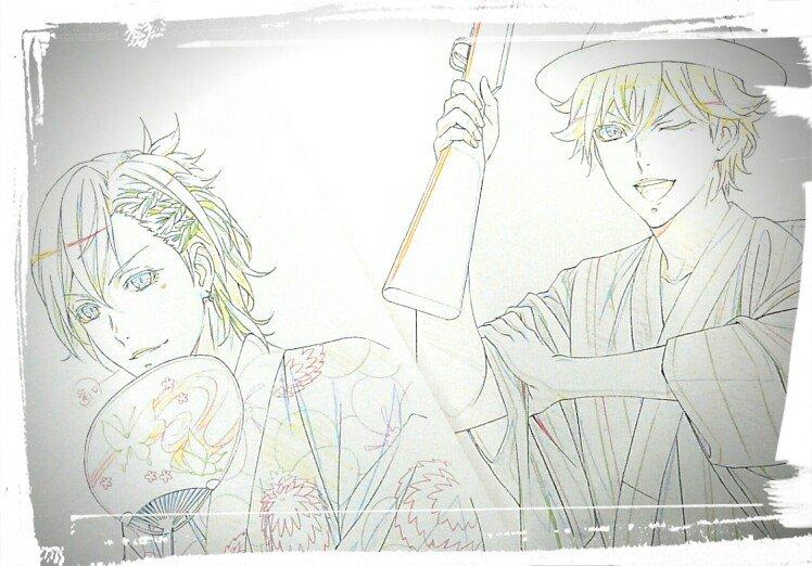 描いた時疲れてたのか、ラフを提出する寸前まで真ん中のキャラはリンドじゃなくメィジを描いてました(^_^;)。オーダー通り