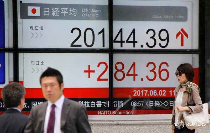 Asia shares wobble over UK election, ECB meeting and Comey's appearance before Congress