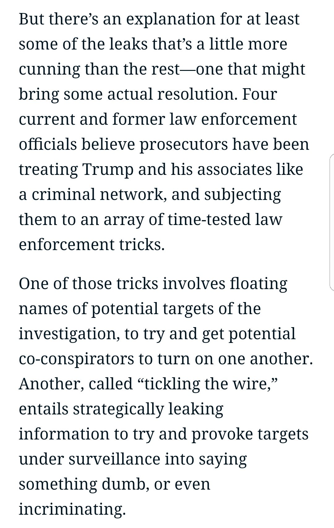 The feds are treating Team Trump in many ways like a mafia family. https://t.co/AJc17n1lL1 https://t.co/YH0Z7l1mLV