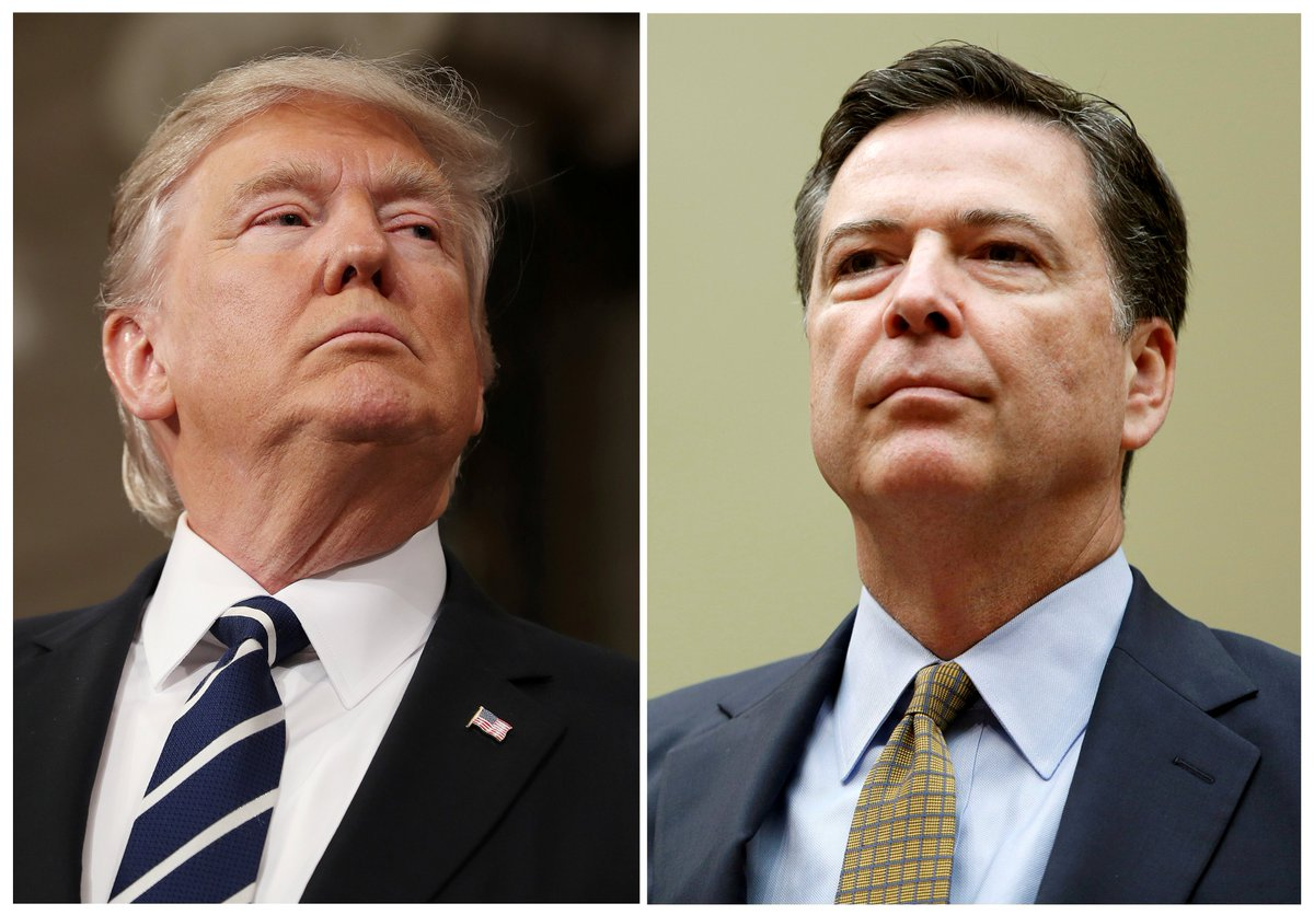 "ComeyHearings live updates: Comey is accusing the president of having ""defamed"" the FBI."