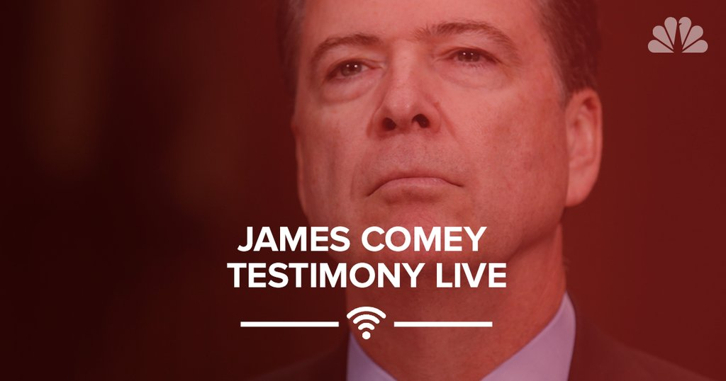 Follow our live coverage of former FBI Director James Comey's testimony: