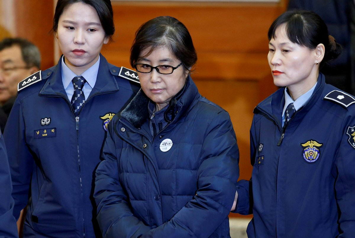 Choi Soon-sil, friend of South Korea's ex-president Park, sentenced to three years in prison